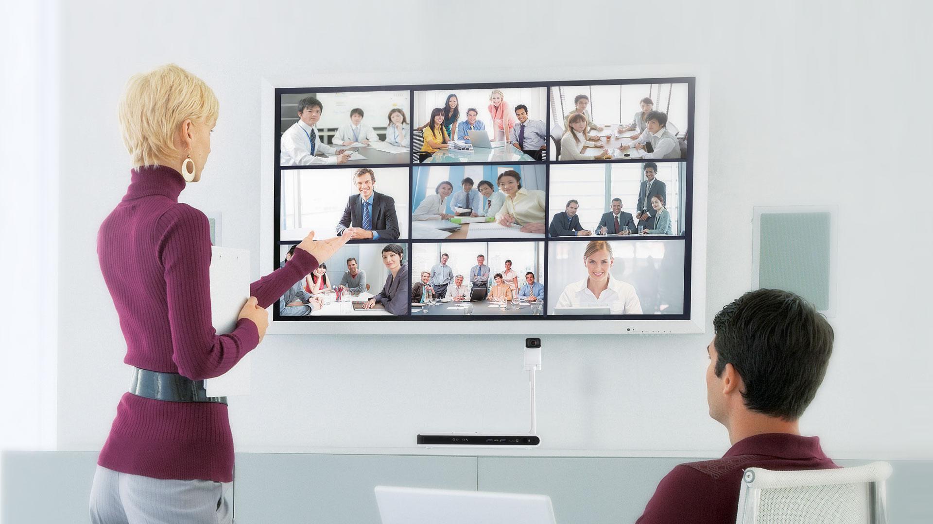 Voorbeeld videoconferencing